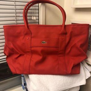 Orange bag for the gym or beach